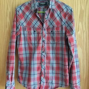Express Plaid Flannel Top